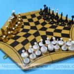Русские шахматы - шахматы на троих (шестигранные)