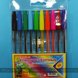 Набор масляных ручек для работы со спирографом.
